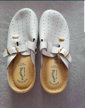Papuci ortopedici piele comozi marimea 41 pentru mediul sanitar