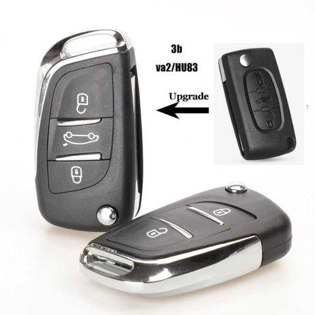 Кутийка ключ Ситроен/Citroen key shell peugeot
