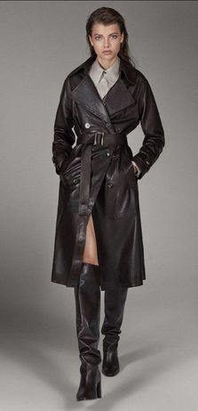 Trench din piele, Massimo Dutti Limited Edition