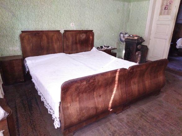 Старинен спален комплект, масив орех