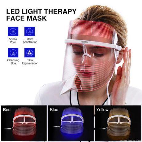 Козметична Фотонна LED маска за лице терапия за бръчки акне пори фотон