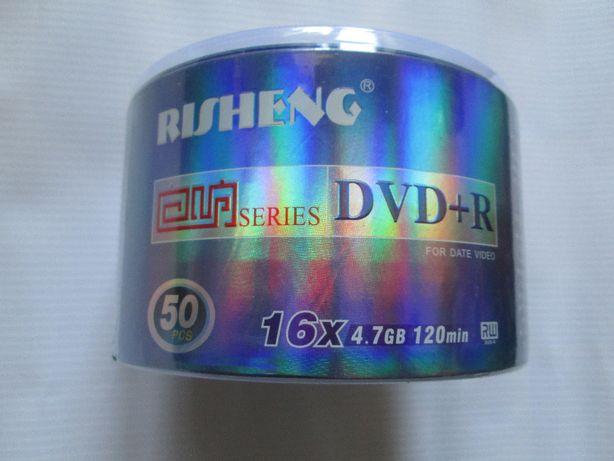 болванки новые DVD +R RISHENG -50шт