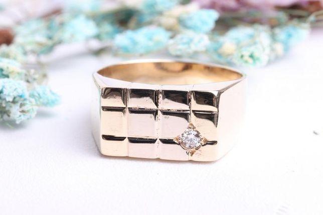 Печатка с бриллиантом , золото 585 Россия, вес 6.62 г. «Ломбард Белый»