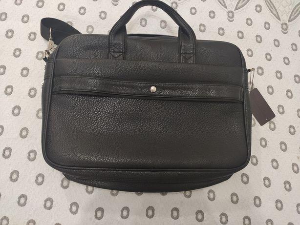 Продам кожаную сумку для ноутбука 15,6