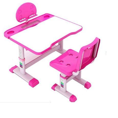 Set birou si scaun adjustibil pentru copii cu lampa led