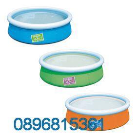 Надуваем басейн Bestway Fast Set 57241 152 cm x 38 cm Inflatable pool