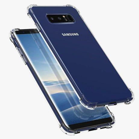 Прозрачен Силиконов Удароустойчив Кейс за Samsung Galaxy Note 8 / 9