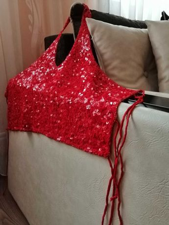 bluză/corset paiete