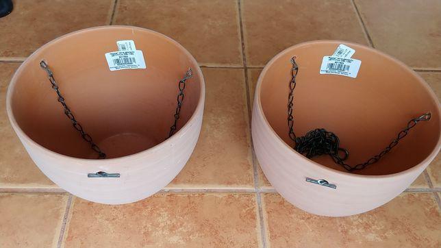 Ghivece pereche ceramica pt agatat flori NOI nefolosite