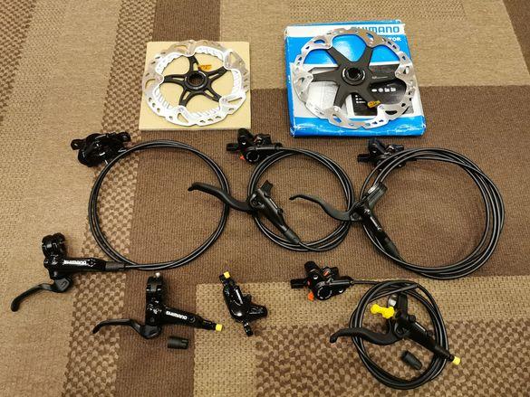 Хидравлична дискова спирачка , лост / лостче , апарат , маркуч, преход