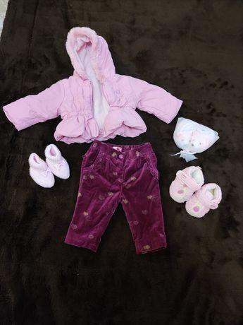 Курточка, штаны для девочки 0-3 месяца