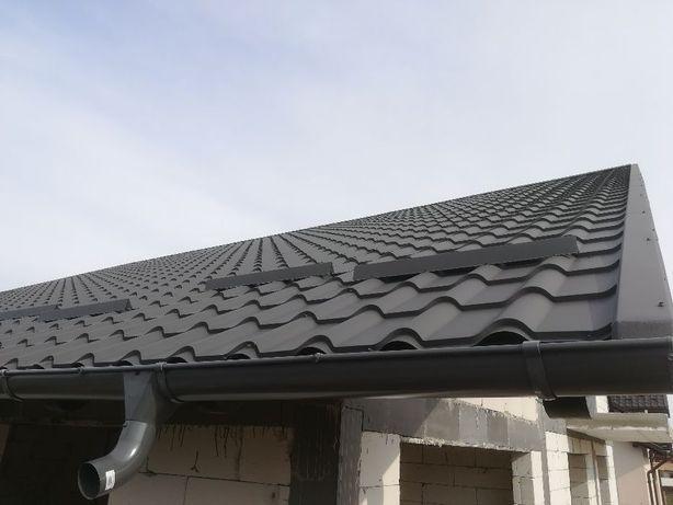 Montaj tabla tip țiglă, reparatii acoperisuri, jgheaburi și burlane