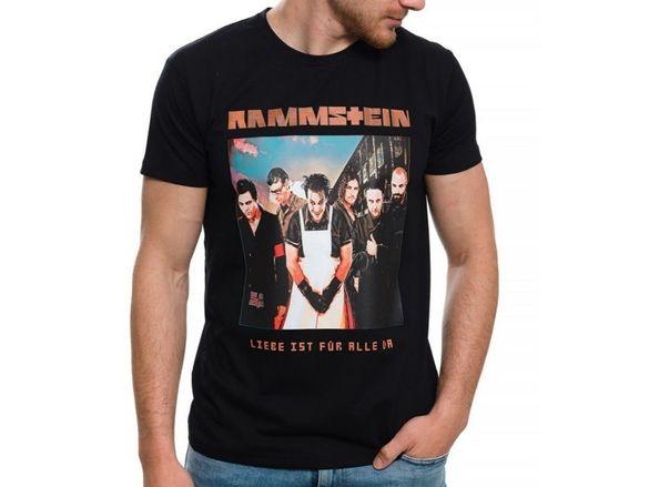 Страхотна нова мъжка тениска с щампа на музикалната група rammstein