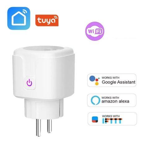 Смарт Wi -Fi контакт Tuya™ 16A работа с Google home,iftt,Alexa App