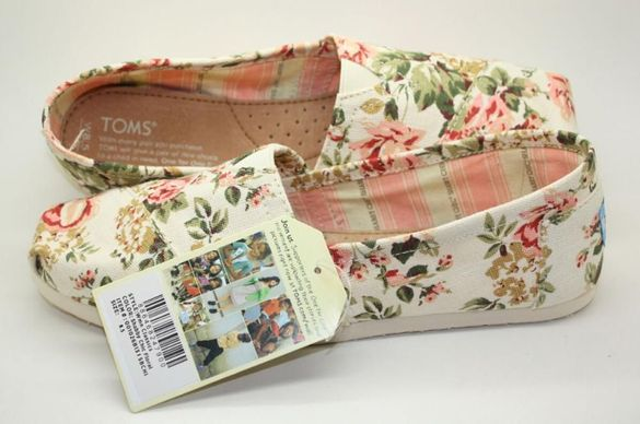 Летни обувки TOMS Shabby Chic Floral Classics Canvas