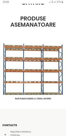 Rafturi metalice industriale 7654x753x8