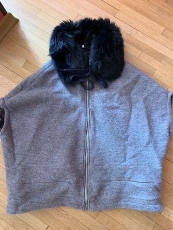Уникални палтенце / елек естествен косъм лисица
