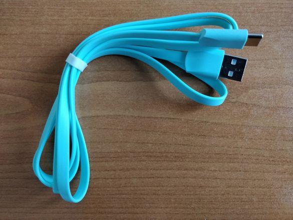 Плосък USB Type-C кабел 1.2м