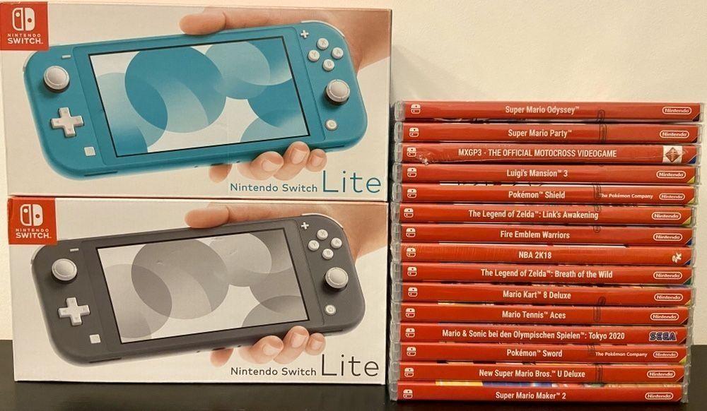 Consola Nintendo Switch Lite + Joc Zelda Mario Luigi NOI SIGILATE