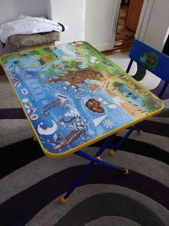 Детский складной стол и стул