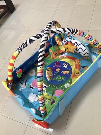 Loc de joaca bebe+salteluta muzicală cadou