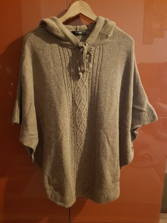 Poncho/pulover gravida