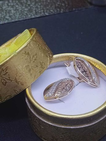 Серьги золото ВВ12325