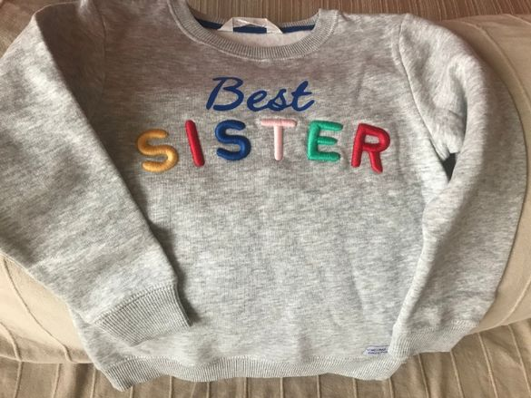 Ватирана детска блузка H&M 4-6г