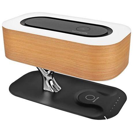 Boxa portabila PROMATE Bonsai-Qi, Bluetooth, Incarcare Wireless QI, LE