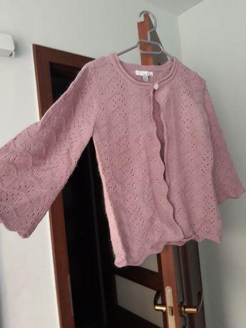 Pulover culoare roz prafuit