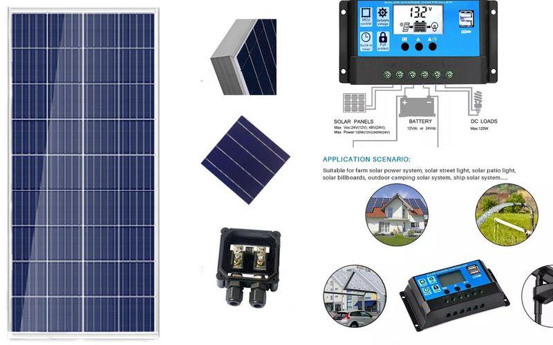 Промо Соларен панел + контролер 100w 6.6А Специално за 12v системи ТОП гр. Стара Загора - image 1