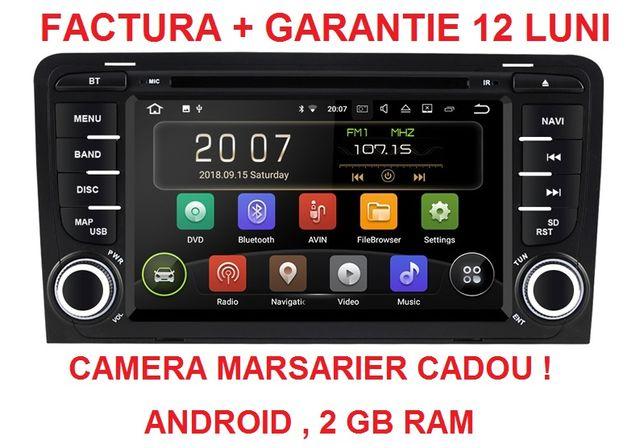 Navigatie Gps Audi A3 ( 2002 -2012 ) , Android noua garantie 2 GB RAM