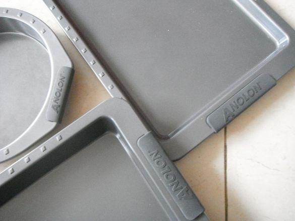 Комплект висококачествени тави, съдове инокс