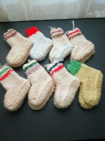 Botosei copii 0-6 ani, tricotati manual din lana, mohair, handmade