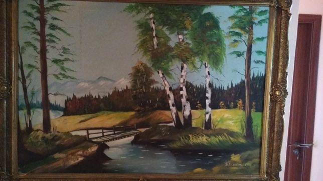 Tablou, pictura in ulei, 1984