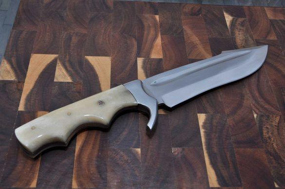Нож ръчна изработка стомана D2 дръжка биволска кост