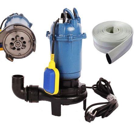 Set Pompa apa murdara cu tocator 3750W, 12000 L/H+Furtun 20 Metri