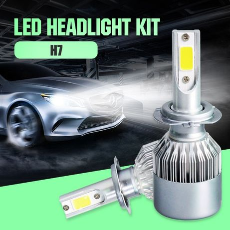 LED Лед диодни крушки Н1 Н4 Н7 Н8 Н9 H11 36W над150% по ярка светлина