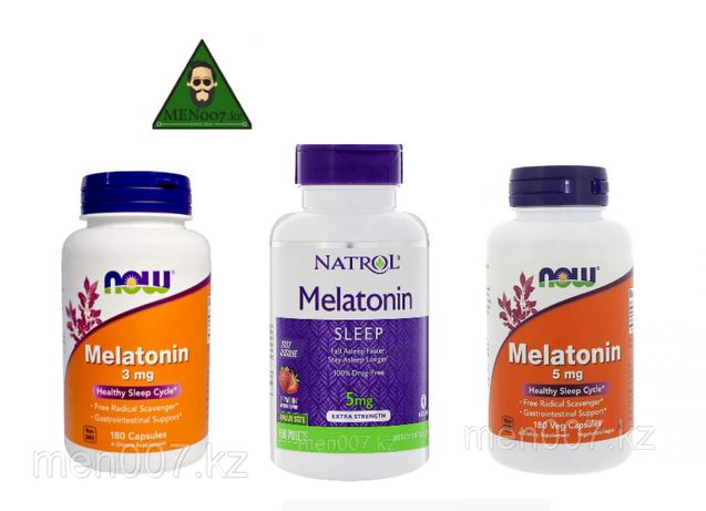 Melatonin, мелатонин 3 и 5 мг БАД, витамины для сна, NOW Foods, Natrol