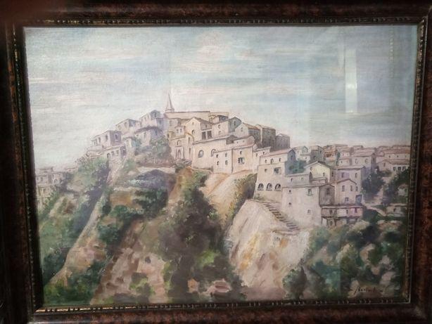 """Vând tablou - """"Case - Corleone Sicilia"""""""