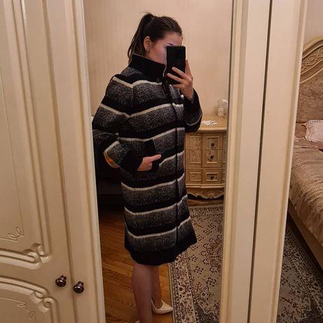 Пальто из альпака. Имитация под шиншиллу.