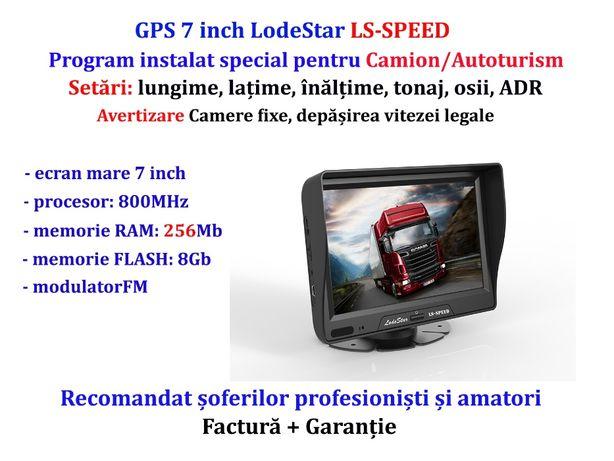 "GPS 7""HD+PARASOLAR, harti iGO Primo Camion/TIR, Poligoane+Gabarit+ADR"