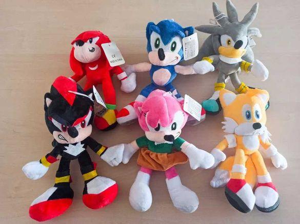Таралежа Соник и герои/плюшен Соник/Sonic плюшена играчка/Sonic
