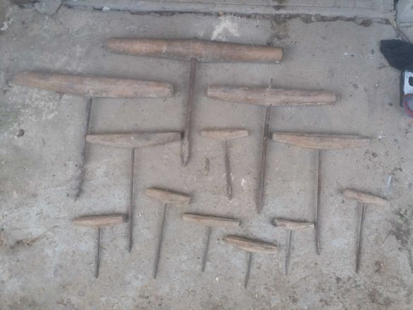 Автентични ръчни ковани дърводелски свредла