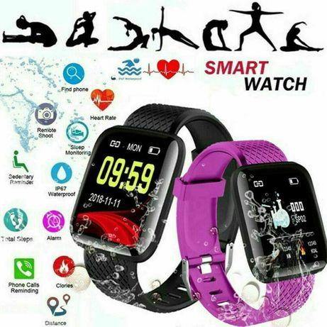 Смарт Фитнес Гривна / Часовник 116 plus Smart Fitnes Band Кръвно Пулс