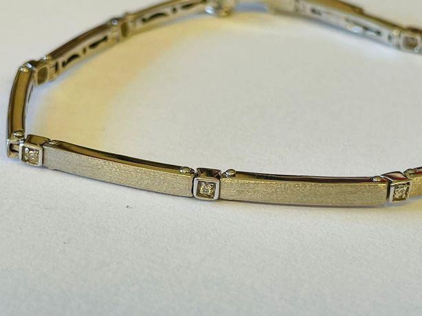 Vand bratara aur alb  18 k si diamante  noua Firma cu renume Italia