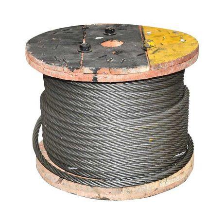 Cablu troliu otel 6x37 fi 14mm cu inima metalica 50m/rola