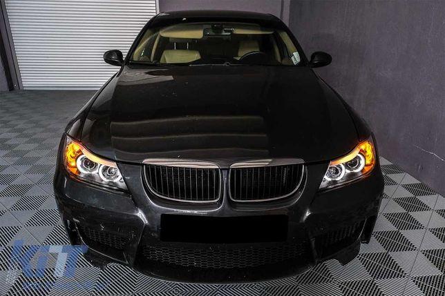 Faruri Angel Eyes BMW Seria 3 E90 2005-2008 Montaj GRATUIT Garantie