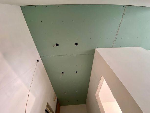 Гипсакартонные работы, потолок, перегаротка, короб,