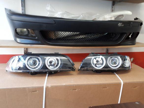 Кристални фарове Angel Eyes BMW E39 черни